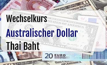 Australischer Dollar in Thai Baht