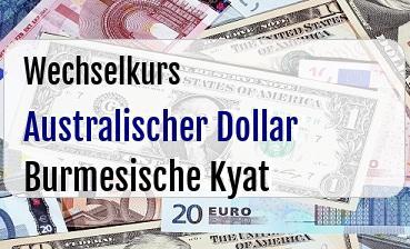Australischer Dollar in Burmesische Kyat