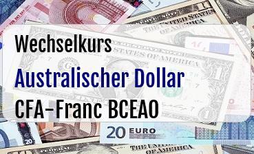 Australischer Dollar in CFA-Franc BCEAO