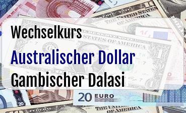Australischer Dollar in Gambischer Dalasi