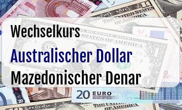 Australischer Dollar in Mazedonischer Denar
