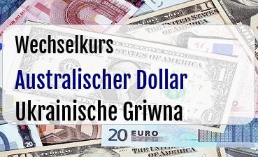 Australischer Dollar in Ukrainische Griwna