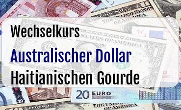 Australischer Dollar in Haitianischen Gourde