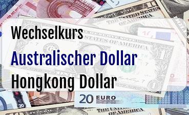 Australischer Dollar in Hongkong Dollar
