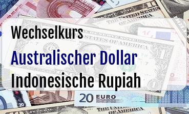 Australischer Dollar in Indonesische Rupiah