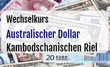 Australischer Dollar in Kambodschanischen Riel