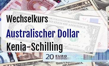 Australischer Dollar in Kenia-Schilling