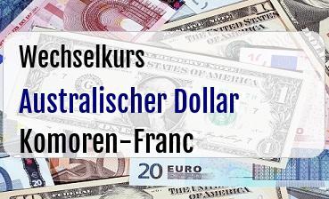 Australischer Dollar in Komoren-Franc