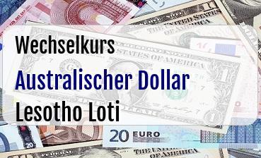 Australischer Dollar in Lesotho Loti