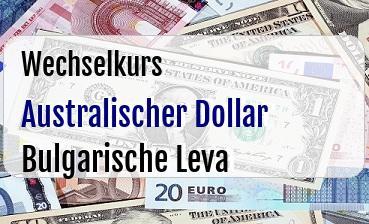 Australischer Dollar in Bulgarische Leva