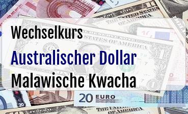 Australischer Dollar in Malawische Kwacha