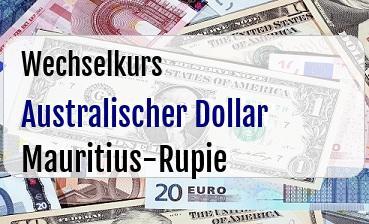 Australischer Dollar in Mauritius-Rupie