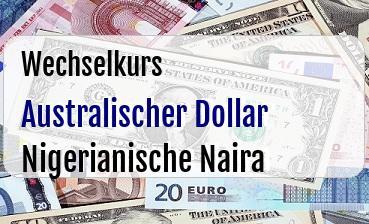 Australischer Dollar in Nigerianische Naira