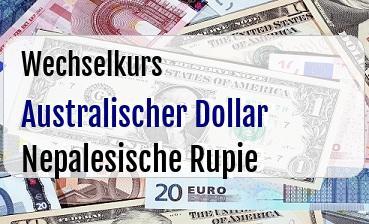 Australischer Dollar in Nepalesische Rupie
