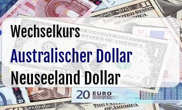 Australischer Dollar in Neuseeland Dollar