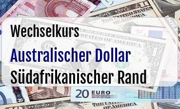 Australischer Dollar in Südafrikanischer Rand
