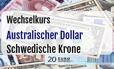 Australischer Dollar in Schwedische Krone