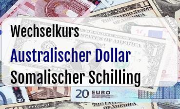 Australischer Dollar in Somalischer Schilling