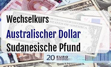 Australischer Dollar in Sudanesische Pfund