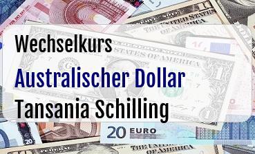 Australischer Dollar in Tansania Schilling