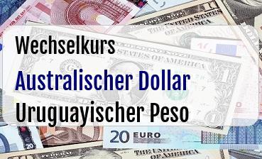 Australischer Dollar in Uruguayischer Peso