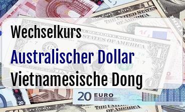 Australischer Dollar in Vietnamesische Dong