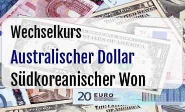 Australischer Dollar in Südkoreanischer Won