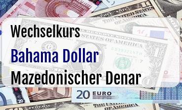 Bahama Dollar in Mazedonischer Denar