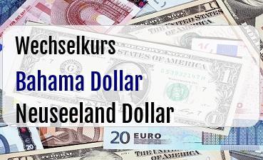Bahama Dollar in Neuseeland Dollar