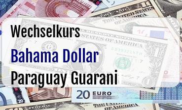 Bahama Dollar in Paraguay Guarani