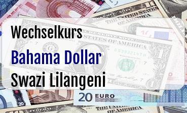 Bahama Dollar in Swazi Lilangeni