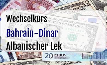 Bahrain-Dinar in Albanischer Lek
