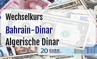 Bahrain-Dinar in Algerische Dinar