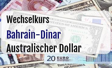 Bahrain-Dinar in Australischer Dollar
