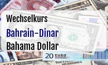 Bahrain-Dinar in Bahama Dollar