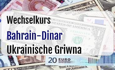 Bahrain-Dinar in Ukrainische Griwna