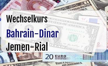 Bahrain-Dinar in Jemen-Rial