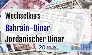 Bahrain-Dinar in Jordanischer Dinar