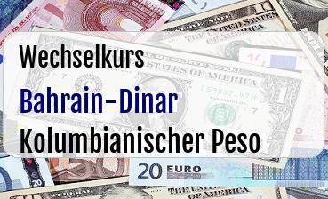 Bahrain-Dinar in Kolumbianischer Peso