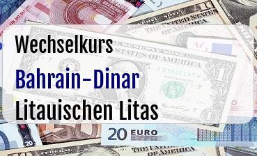 Bahrain-Dinar in Litauischen Litas