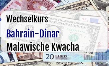 Bahrain-Dinar in Malawische Kwacha