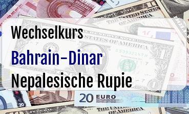 Bahrain-Dinar in Nepalesische Rupie