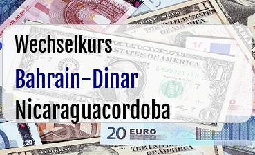 Bahrain-Dinar in Nicaraguacordoba