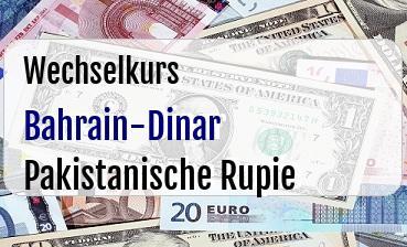 Bahrain-Dinar in Pakistanische Rupie