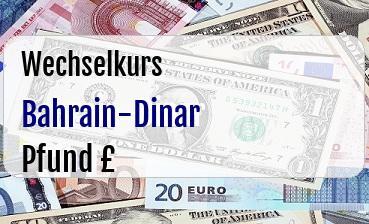 Bahrain-Dinar in Britische Pfund