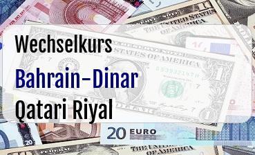 Bahrain-Dinar in Qatari Riyal