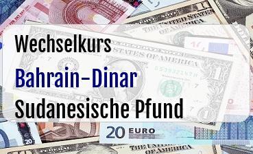 Bahrain-Dinar in Sudanesische Pfund
