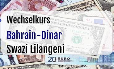 Bahrain-Dinar in Swazi Lilangeni