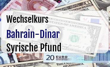 Bahrain-Dinar in Syrische Pfund