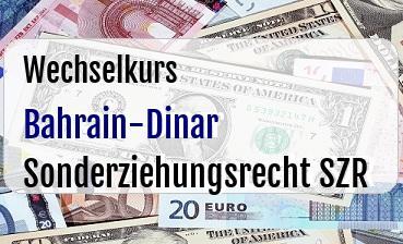 Bahrain-Dinar in Sonderziehungsrecht SZR